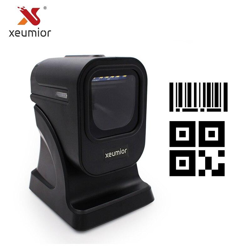 Изображение 2D Всенаправленный сканер штрих-кодов настольный считыватель штрих-кодов для всех 1d и 2d штрих-кодов SM-8200