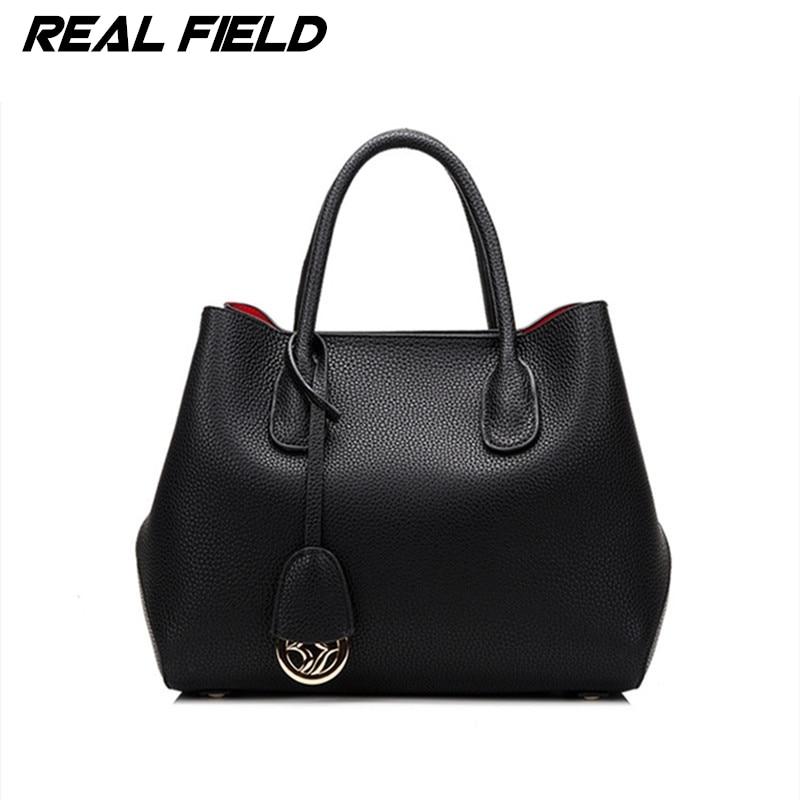 Real Field Brand Split Leather Women Briefcase Ladies Luxury Tote Shoulder Handbags Golden Designer Composite Messenger Bags 52 p p x split leather composite bag