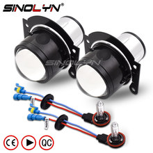 SINOLYN HID Bi xenon Fog Lights Projector Lens Driving Lamp H11 High Low For Car Motorcycle Retrofit DIY Universal Waterproof