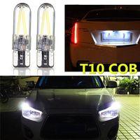white car 2x 3W 12v-24v T10 194 168 W5W Led Car Glass License Plate Lights Bulbs White 2pc (3)