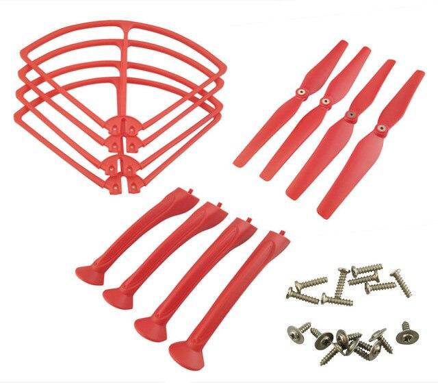 SYMA X8 X8C X8G X8W X8HC X8HW X8HG axe télécommande accessoires daéronef rouge hélice anneau de protection engrenages