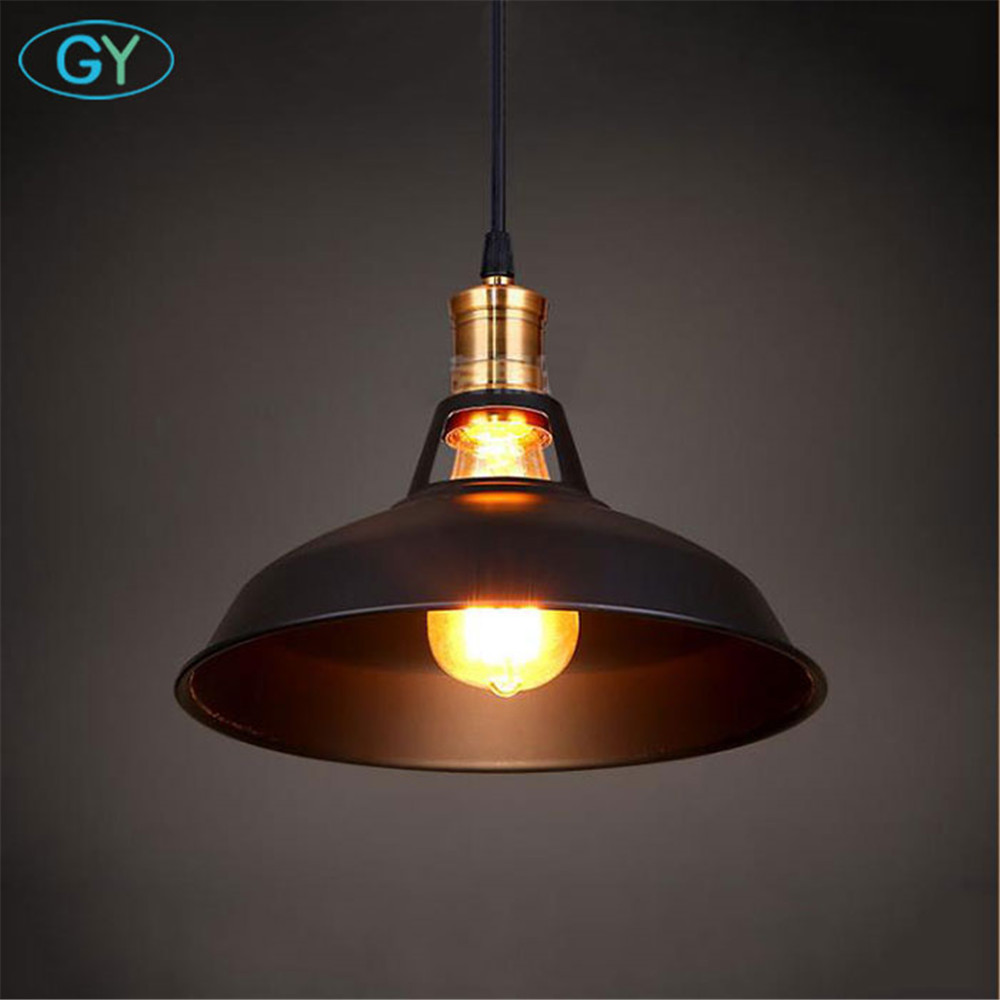 Vintage hollow out Pendant lights Retro Industrial Metal pendant Lamp Cafe Restaurant clothes shop store Loft Lid hanging Lights