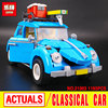 2016 LEPIN 21003 Creator Series City Car Volkswagen Beetle Model Building Blocks Compatible Legeo Blue Technic