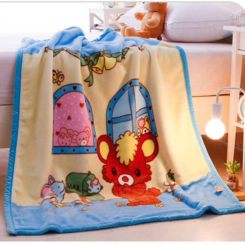 Baby Blanket Double Thickness Children And Newborns Blanket Autumn And Winter Double-sided Coral Blanket