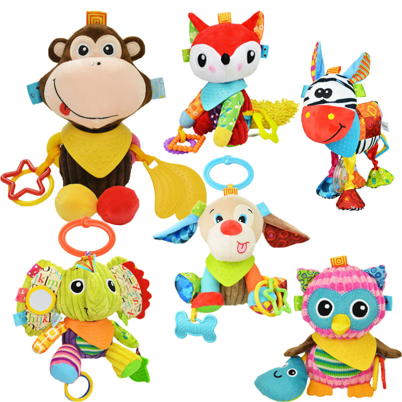 Baby toys 0-12 months Rattles Bell Music & Mobiles Crib Bed Hanging Infant Toys Teether Dolls baby Toys Animal Plush