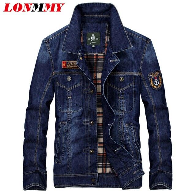 Aliexpress.com : Buy LONMMY M 4XL Denim jacket men Cotton Patch ...