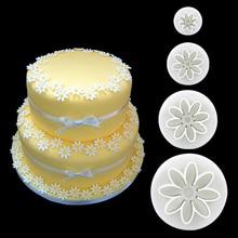 4 шт./компл. форма для торта ромашка цветок Подсолнух поршень для кулинарной вырезки Инструменты Кухня помадка кухонные аксессуары подставка для пресс-формы для торта
