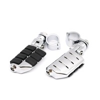 Chrome Durable Dually Foot Rest Pegs Footpegs Footrest 1 1 4 Engine Guard Bars For Harley