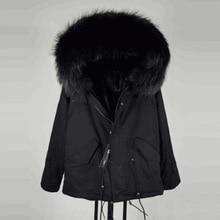 Модная теплая Женская тонкая хлопковая куртка с меховым воротником, парка с меховым воротником, зимнее пальто