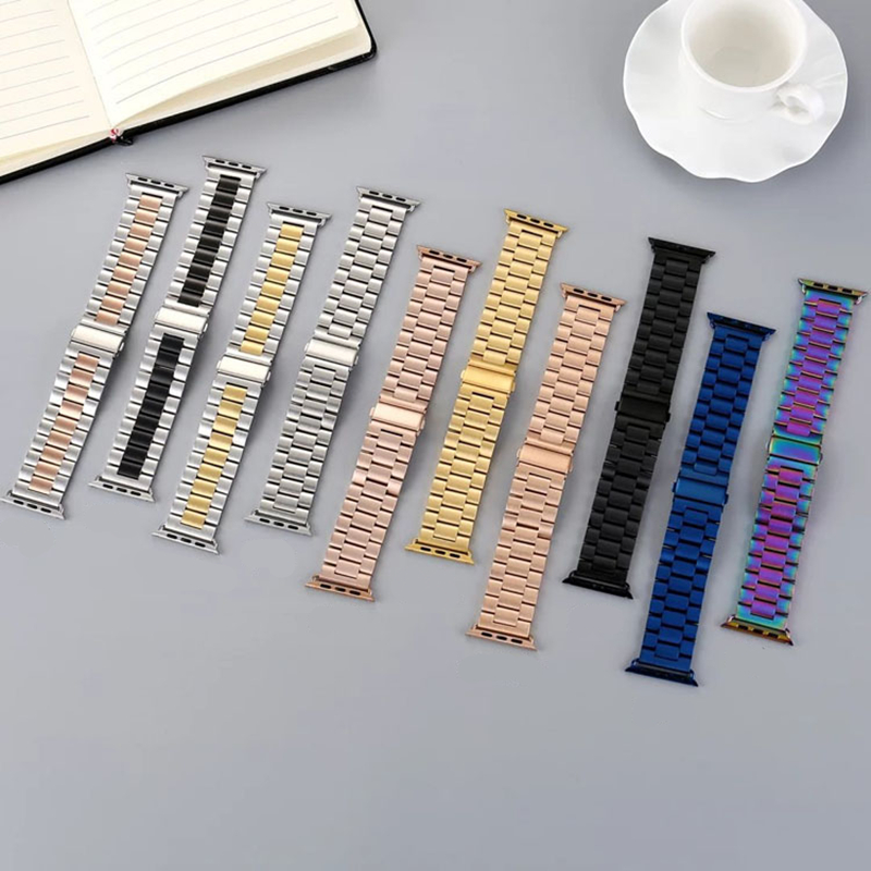 Stainless steel strap For Apple watch band 4 44mm 40mm 42mm 38mm iwatch bands series 4 3 2 1 Link bracelet wrist belt Watchband soft silocone sport band for apple watch bands series 4 44mm 40mm wrist bracelet strap for iwatch 3 2 1 belt 42mm 38mm watchband