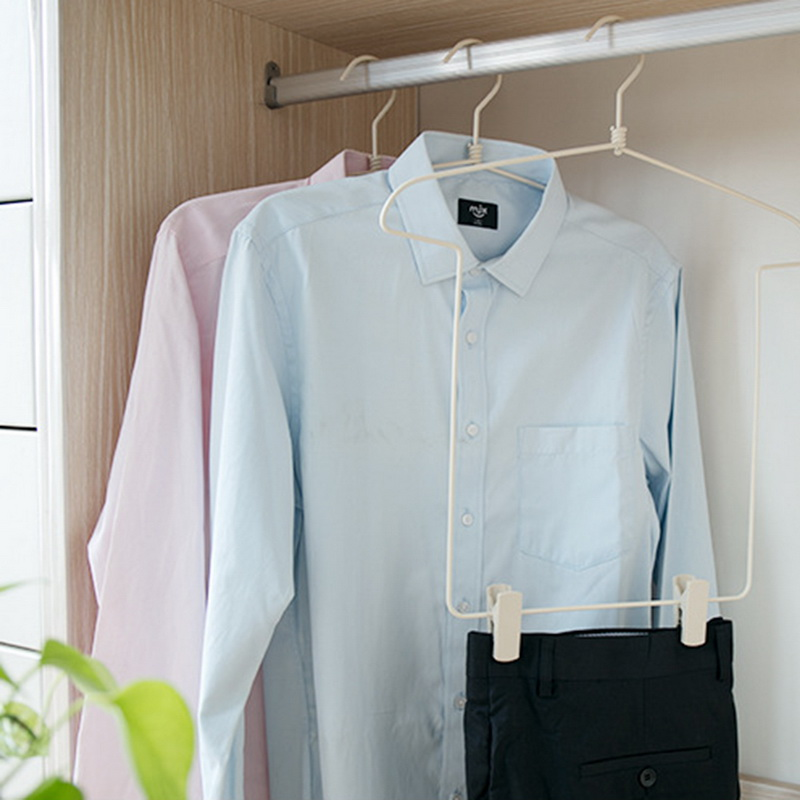 FUNIQUE Clothes Hanger Suit Pants Rack Clip Wardrobe Multi-function Drying Rack Household Clothes Hanging Closet Storage Rack