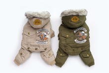 Новый Толщина с капюшоном драйвер стильно, для собак Четыре Ноги Хлопок Зимнее пальто Бесплатная доставка CPAM теплый маленький щенок Одежда для собак