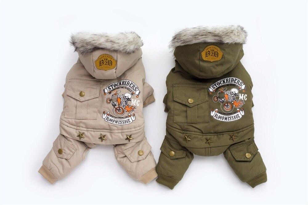 Nuovo Driver di Spessore Con Cappuccio Stile Pet Dogs Quattro Zampe giacca di Cotone Cappotto di inverno Shiping libero Da CPAM Caldo Piccolo Cucciolo Cani abbigliamento