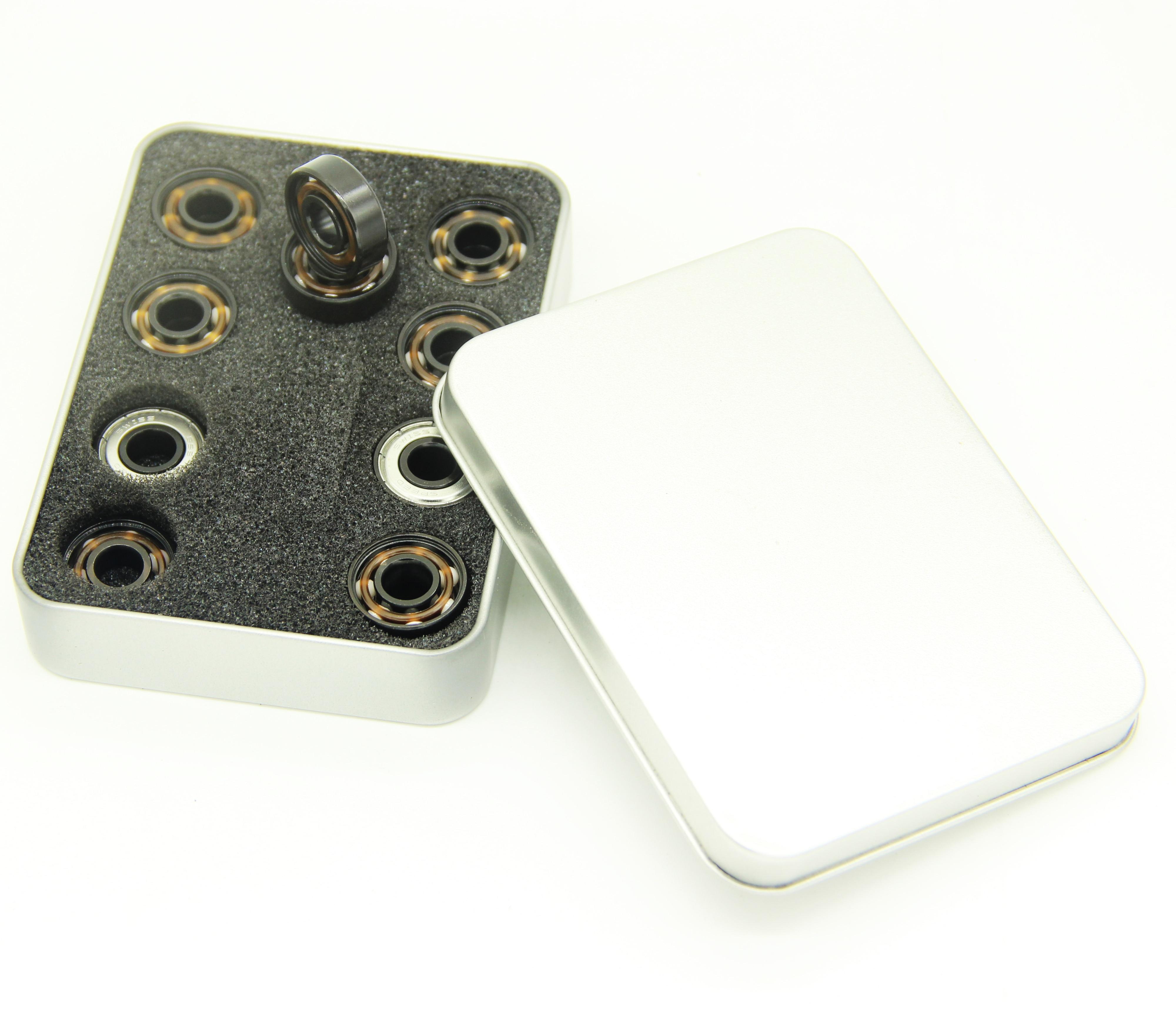 Free shipping 16pcs Ceramic inline speed skate bearings 608 8*22*7mm ABEC11 7 ball FreeLine Skate bearing inline roller wheels