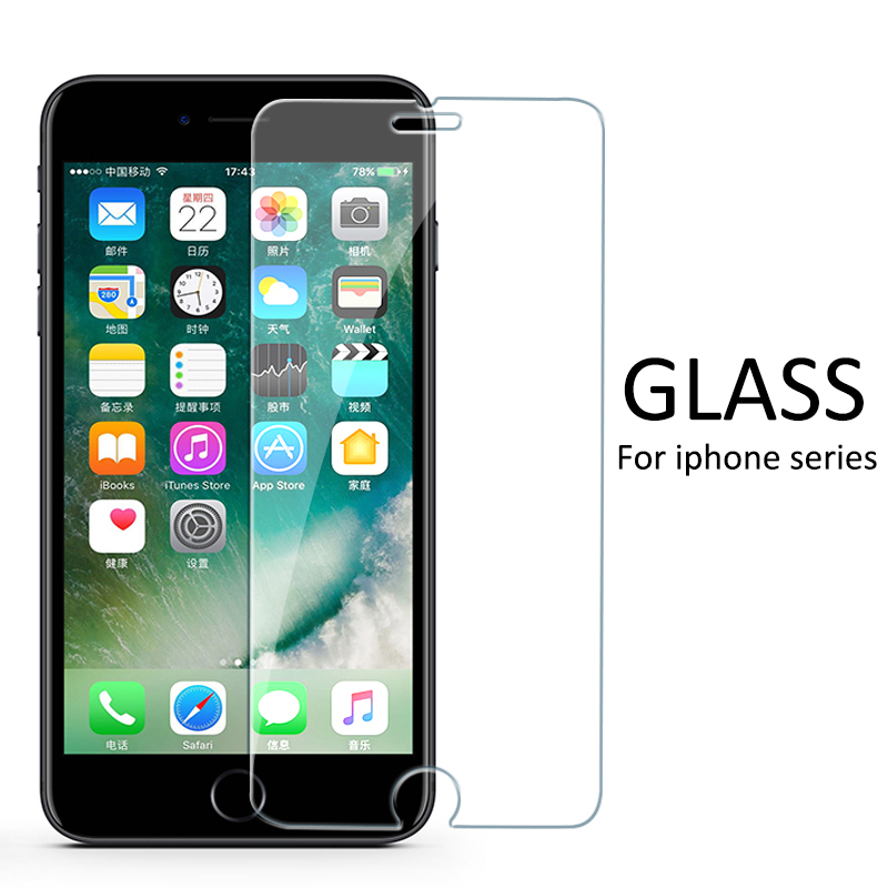 Protective Glass Glass For IPhone 7 6 X Screen Protector IPhone X Xr Xs Max Tempered Glass On IPhone 7 8 6s 6 Plus Xs 5 SE Glass