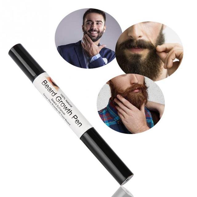 1pcs Men Facial Hair Sideburn Beard Mustache Repair Shape Growth Pen Beard Growth Pen Growth Shaping Styling Spray Tools