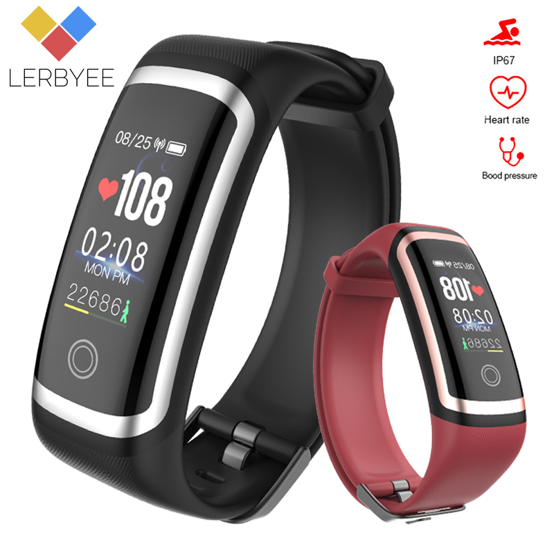 Lerbyee Fitness Tracker M4 Waterproof IP67 Blood Pressure Smart Bracelet Bluetooth