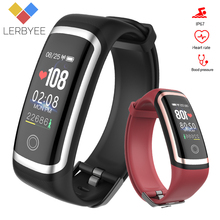 Lerbyee Fitness Tracker M4 Waterproof IP67 Blood Pressure Smart Bracelet Bluetooth Call Reminder Sport Wristband for iOS Android