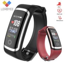 LerbyeeフィットネストラッカーM4防水血圧スマートブレスレットのbluetooth通話リマインダースマート腕時計スポーツiosアンドロイド