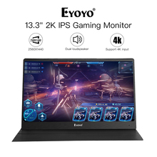 Eyoyo EM13J 13.3 2540x1440 Portable PC Gaming Monitor IPS Game with 4K HDMI Input for Thin portable Switch Raspberry Pi
