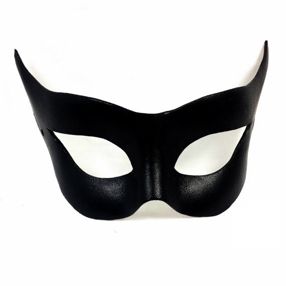 catwoman selina kyle cosplay leather mask handmade superheroine sexy black eye patch eyewear party halloween props
