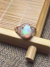 Natural Transparent opal stone Ring Natural gemstone Ring S925 sterling silver trendy Elegant Square women girl gift Jewelry