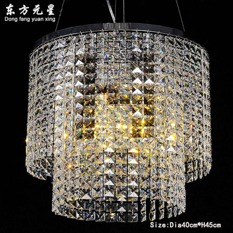 Crystal Chandelier Luxury Crystal Hanging Light Round