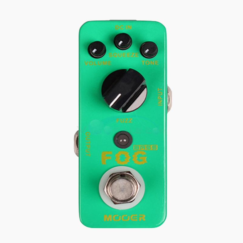 Mooer Fog Bass Fuzz Guitar Effect Delay Pedal with True Bypass Full Metal Shell Classic Bass Fuzz Tone MFZ4 mooer ensemble queen bass chorus effect pedal mini guitar effects true bypass with free connector and footswitch topper