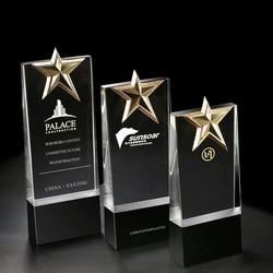 CTPS0024 nuevo diseño personalizado micrófono creativo nota musical Concurso de voz cantante trofeo de cristal regalo de premio Envío Directo