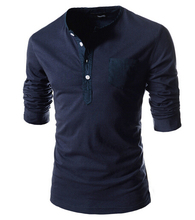 MYPF Solid color Plus Size round neck Men Long Sleeve Cotton Fitness men s Undershirt