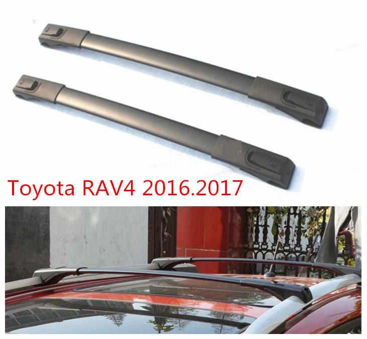 Крест автомобиль, багажник на крыше, стеллажи для выставки товаров для Toyota RAV4 2016,2017 высокое качество Фирменная Новинка Алюминий винтовое соединение Авто Чемодан стеллаж для выставки товаров
