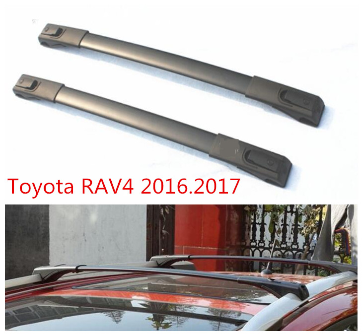 Car Cross Rack Roof Racks For Toyota RAV4 2016.2017 High Quality Brand New Aluminum Screw fixing Auto Luggage Rack free shipping fiesta hatchback high quality aluminum roof rack luggage rack punch free 1 3 m