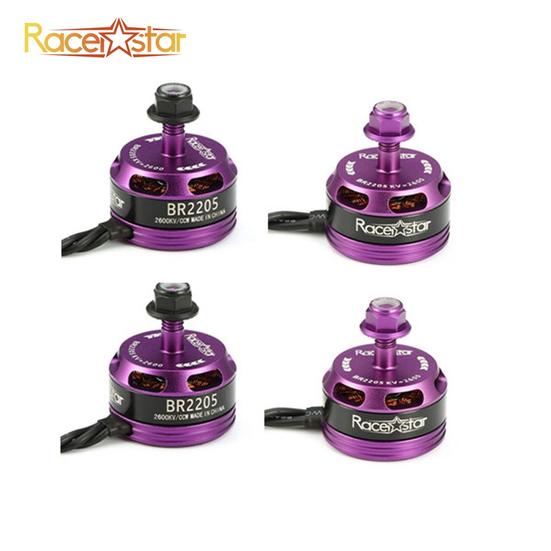 Original 4Pcs 4x Racerstar Racing Edition 2205 BR2205 Purple 2600KV 2-4S Brushless Motor For 210 X220 250 280 RC Drone Frame touchstone teacher s edition 4 with audio cd