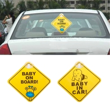 baby on board sticker kids safety reflective vehicle car signs self adhesive warning sticker for driver BABY ON BOARD PVC Suck Warning Mark Sign Sticker Car Window Safety Notice Board
