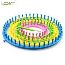 купить 4 Pcs/set Colorful Round Circle Hat Knitter Knitting Knit Loom DIY Tool Kit Size14cm 19cm 24cm 29cm Knitting Knit Loom DIY Tools онлайн