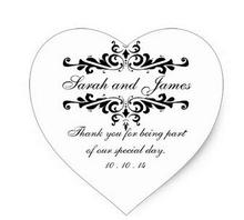 1.5 дюйма элегантные спасибо Свадебный Наклейки сердце