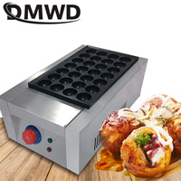 DMWD 110V/220V Commercial Electric Takoyaki Maker Cooker Japanese Octopus Fish Ball Baking Machine Chibi Maruko Grill EU US Plug