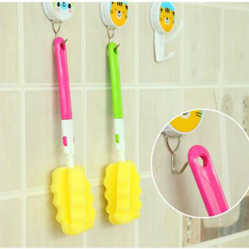 1Pcs/set Sponge Baby Bottle Cleaning Sponge Brushes Glass Milk Feeding Bottle Cup Brush Cleaning Cup Scrubber Washing Brushes