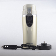 Fast shipping 12V Car Heated Travel Mug Thermos Heating Cup Coffee Cup Auto cup Bottle Heating Mug Boiling Water Free Shipping