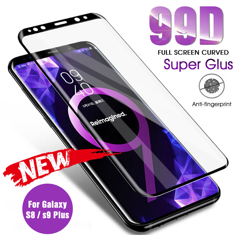99D Curved Tempered Glass For Samsung Galaxy S8 S9 Plus Note 8 9 S6 S7 Edge Screen Protector Film For Samsung Galaxy S8 S9 Glass