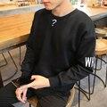 Autumn 2016 Fashion Pullover Sweatshirt Male Hip Hop Moleton College Letter Embroidery Long-Sleeved Sweatshirt Homme Men Tide