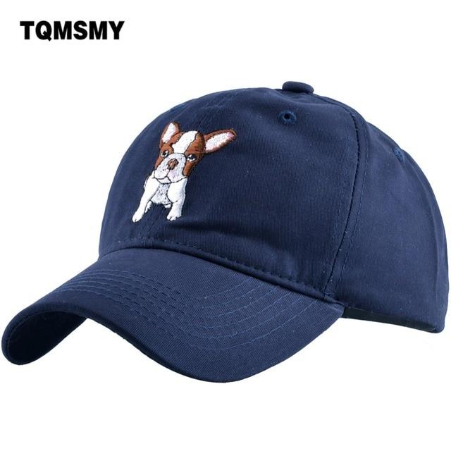 e97c6704bb TQMSMY summer Caps High quality cute little dog embroidery caps men & women  baseball hat Gorras teens baseball caps TMDH01