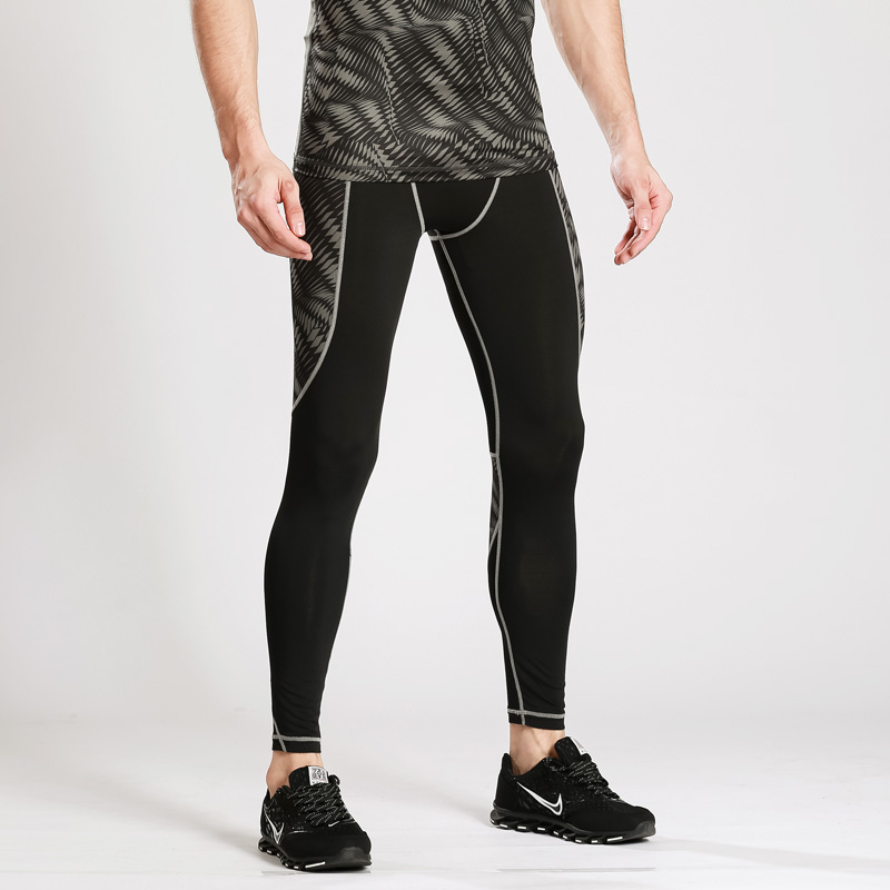 Men compression pants high elastic breathable mens running tights exercise fitness long pants trousers