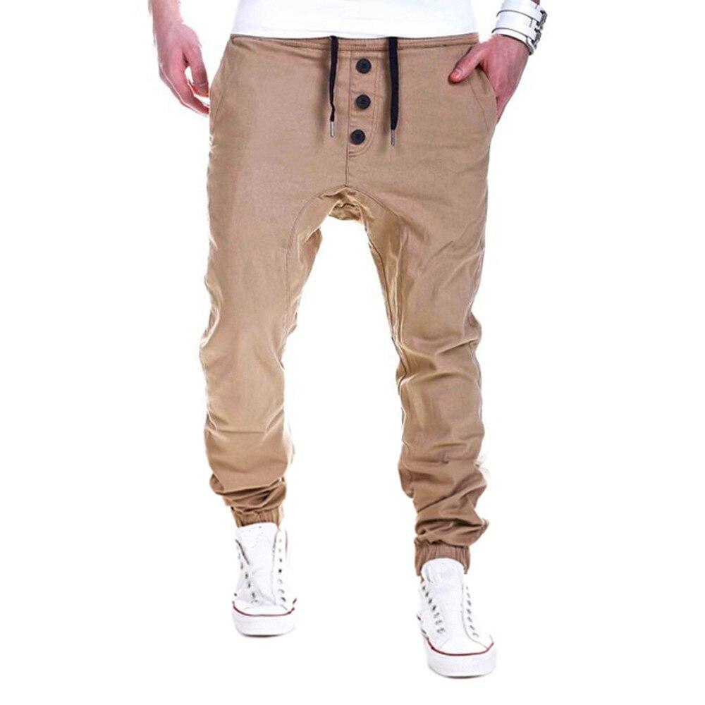 HOT Fashion Mens Trousers Sweatpants Harem Pants Slacks Cotton Solid Casual Jogger Dance Sportwear Baggy For Male Drop Shipping