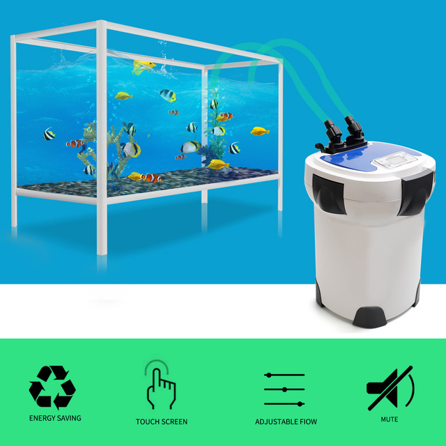 3000L/h SUNSUN HW-3000 LCD Display 4-Stage Aquarium External Canister Filter with 9W UV Sterilizer for Fish Tank Up to 300-750L