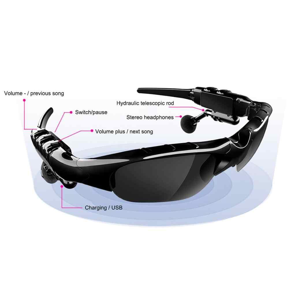 Smart Bluetooth 5.0 Headset Nirkabel Terpolarisasi Bluetooth Kacamata Olahraga Mengemudi Kacamata Bluetooth Earphone Universal