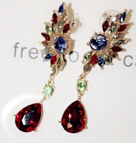 Water Drop Earring Gold Color Dangle Long Earrings With Top Quality Wing Earrings For Women Bijouterie Elegant Jewelry