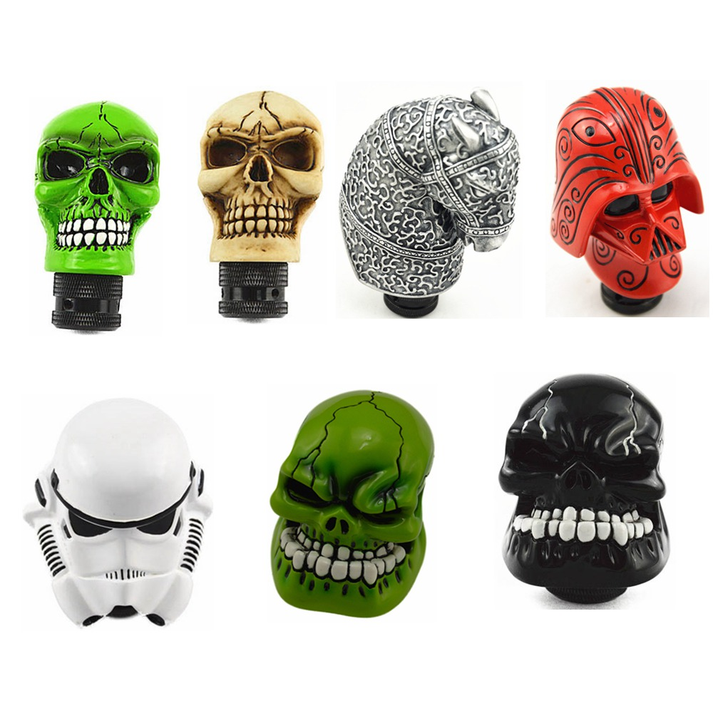 цена на Gear Shift Knob Universal Car Manual Gear stick Shift Shifter Lever Knob Wicked Carved Skull refit Decoration Gear Stick