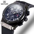 Megir Brand Men's Sport Watch Waterproof Chronograph Auto Date Casual Silicone Military Watch Men Luxury Wristwatch Reloj hombre