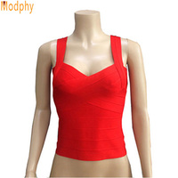 2014 Women Elastic Bandage Deep V Vest Multi Solid Colors Tight Cute Sweet Singlet Drop Ship